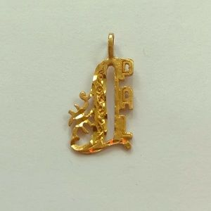 Jewelry - 14K Gold #1 Pal Pendant for a Necklace Best Friend